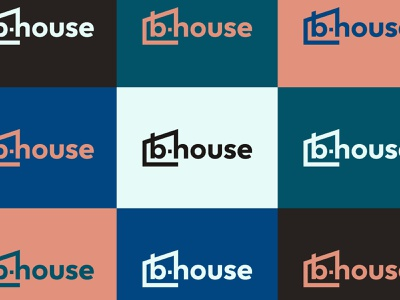B.House Logo System logo system resimercial office furniture house color palette brand colors visual identity identity design brand identity furniture commercial furniture design branding identity logo
