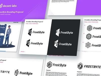 FrostByte Process Shot frost cybersecurity app frostbyte brand design visual identity process work in progress brand identity design branding identity logo