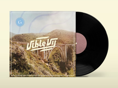 The Vible: Book VII design mockup good vibes coastal summer playlist vinyl cover vinyl music the galley the vible