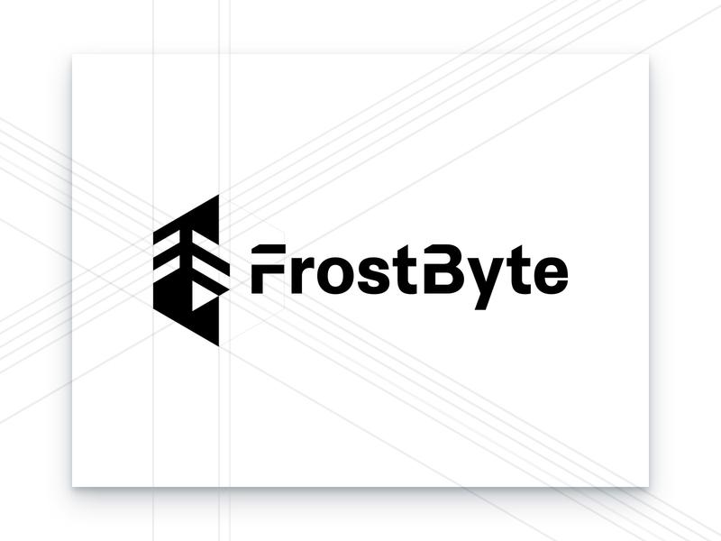 FrostByte Logo Construction technical branding agency cyber security security ice frost brand identity identity design branding logo