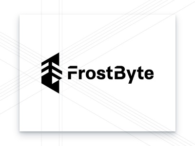 FrostByte Logo Construction technical branding agency cyber security security ice frost brand identity identity design branding logo