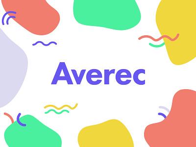 Averec Logo Presentation blob compliments messaging friendly bright colorful identity vector brand identity design branding logo