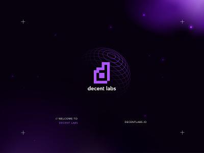 Decent Labs Brand Preview venture studio tech startup dapp coin bitcoin cryptocurrency fintech orbit tron scifi future space preview brand identity brand ethereum blockchain defi crypto