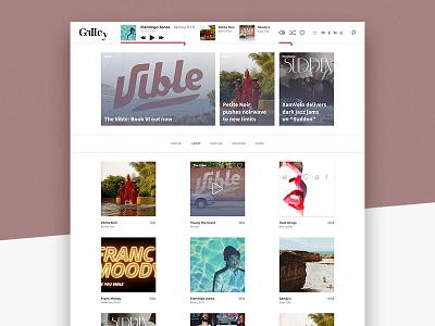 The Galley Home Page Mockup website web design ui the galley presentation page music blog music mockup minimalist design blog