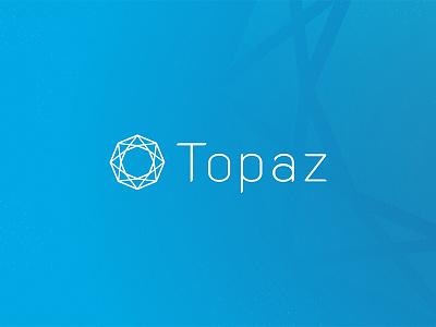 Topaz Logo Presentation start up block chain tech logo tech topaz brand identity branding design identity logo