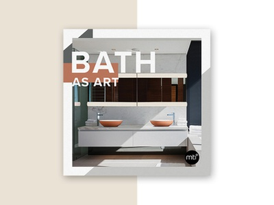 MTI Square Card paper typography boutique graphics color block collateral card modern minimalism mti baths bath luxury