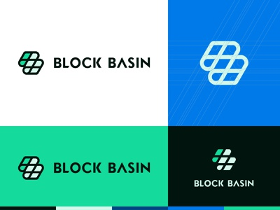 Block Basin – Logo Concept investment blockchain real estate branding identity logo