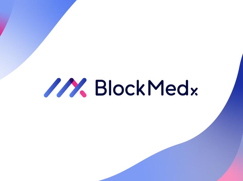 BlockMedx Logo Design brand design visual identity logo design healthcare mx brand identity app blockchain prescription medical design identity logo branding