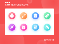 gym texture icons