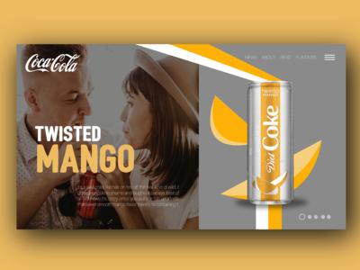 Diet Coke Twisted Mango Landing Page