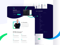 Landing page for php course