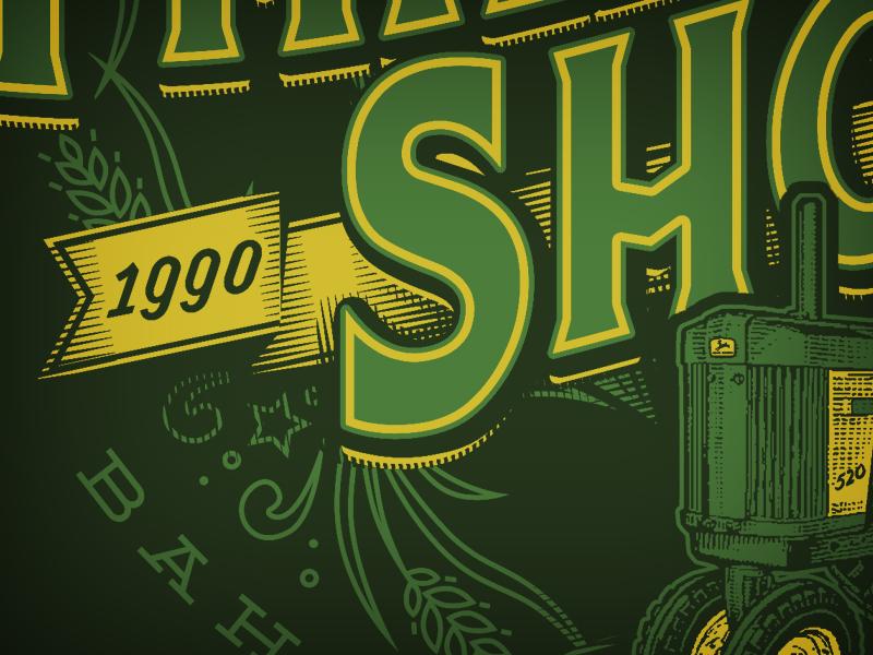 Threshing Show - Detail shirt tractor farm threshing bee wheat john deere ag type typography vintage retro