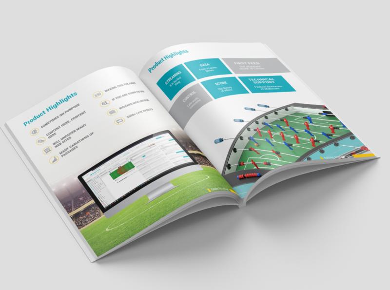 Magazine for table football designers digital web design art designer magazine presentation branding design