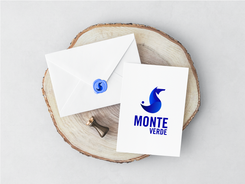 Golden ratio logotype MONTE VERDE envelope graphicdesign horse logo webdesign