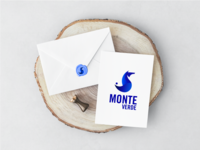 Golden ratio logotype MONTE VERDE envelope