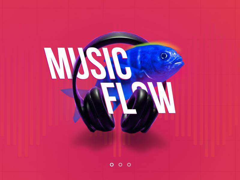 Blue fish design music fish graphicdesign