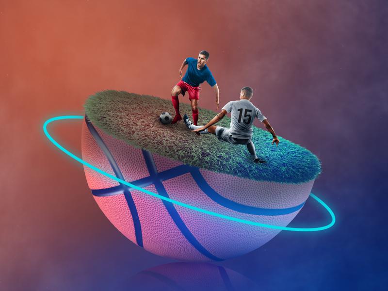Neonsport / basketball sport neon basketball