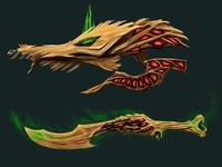 """""""Life Drainer"""" weapon set"""