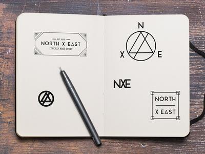 North X East branding sneak peek creative direction minimalist adobe creative suite illustrator photoshop graphic design apparel logo design brand identity branding