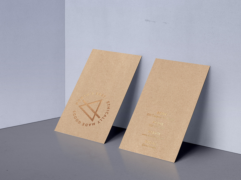 North X East: Ethically Made Goods minimalist graphic design branding design logo business card