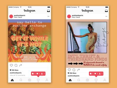 Austine Exchange Instagram Posters
