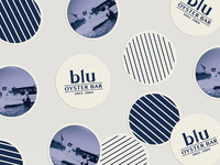 Vintage, nautical inspired coasters for Blu Oyster Bar