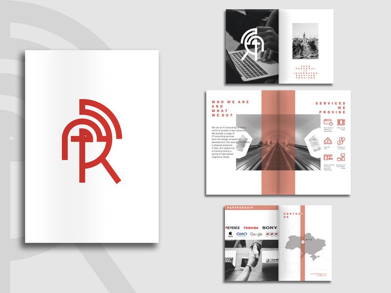 Ago-Ra It Consulting brochure mockup brochure design logo branding brand identity uidesign uiux printing print design