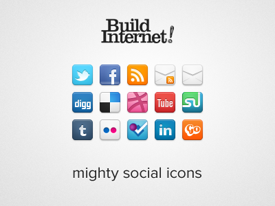 Mighty Social Icons social media icons