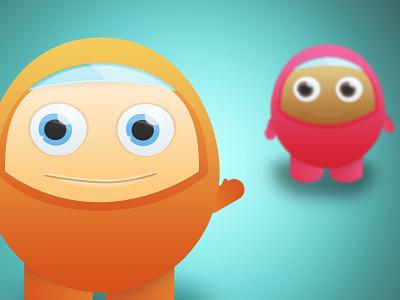 Egg Friends character illustration