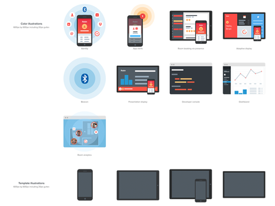 Robin Icon Sheet robin icons mobile beacon bluetooth browser
