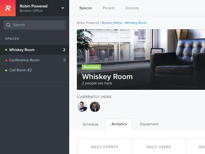 A darker dashboard robin dashboard analytics sidebar beacon office