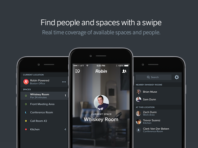 Find people and spaces ios iphone sidebar mobile beacon booking availability app