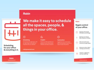Robin Roadshow Booth office booth calendar robin trade show rollup