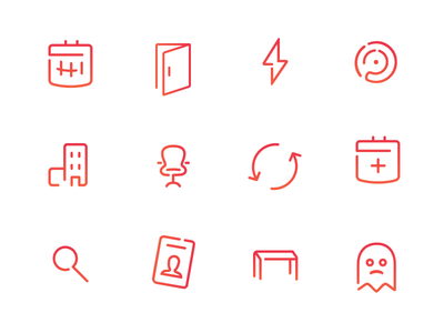 Outline Icon Set sketch calendar ghost outline icons