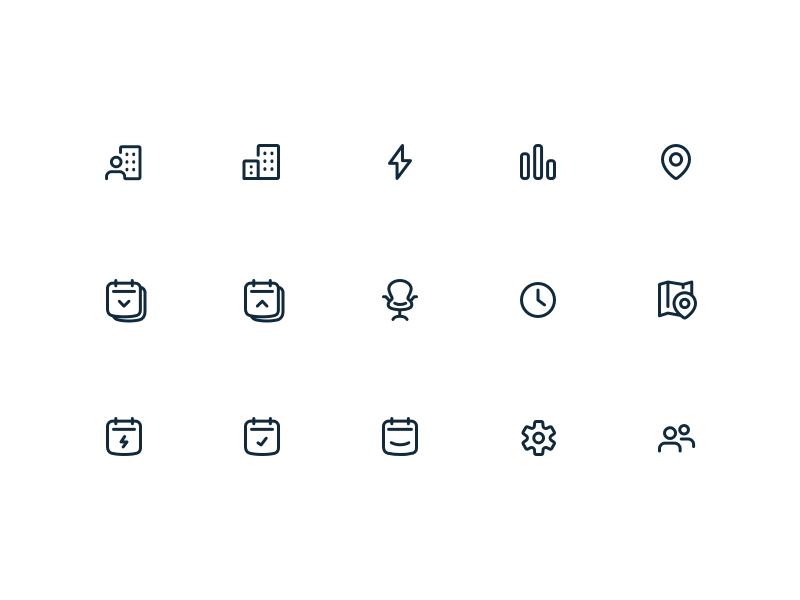 Dribbble nav icons