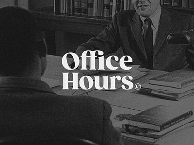 Office Hours WIP serif logotype vintage branding identity logo