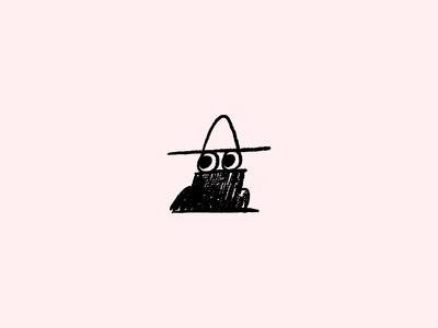 Incognito Sketch shady incognito turtle neck hat eyes sketch mascot branding illustration