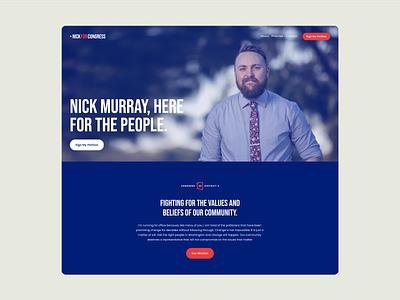 Campaign Website politics minimal political campaign web design branding