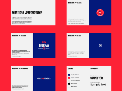 Campaign Identity Guidelines politics political campaign badge brand guide visual identity branding