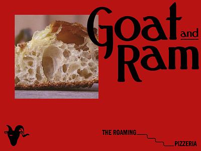 Goat & Ram Art Direction food truck restaurant pizza contemporary red logotype branding identity logo art direction