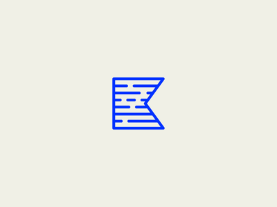 K Mark clean minimal typography simple k blue monogram mark logo