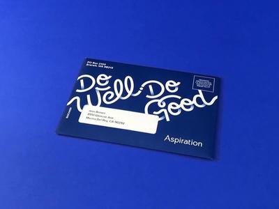 Updated Welcome Kit fintech branding blue pantone packaging welcome kit envelope print