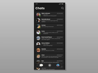 Chats Transition Animation. ui dark ui dark uxui uxdesign ux concept aftereffects animations motiongraphics application ios app motion design motion animation uidesign uiux design