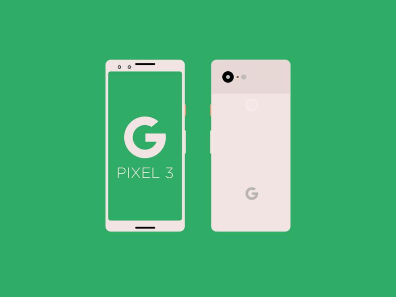 Pixel 3 AI Mockup. free freebie 3 flat vector illustration illustrator google pixel design ui mockup