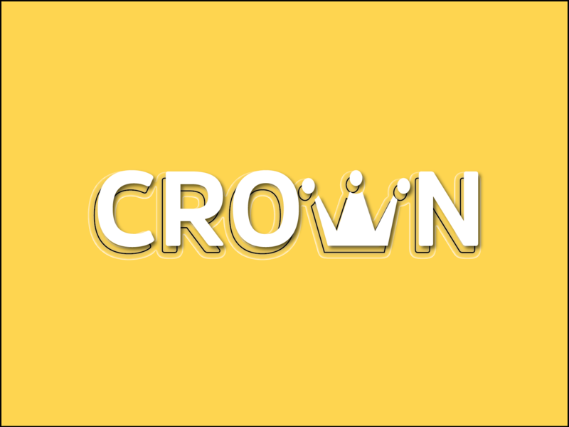 Crown Typography! type daily type art crown amsi type design typography approach logo concept illustrator illustration
