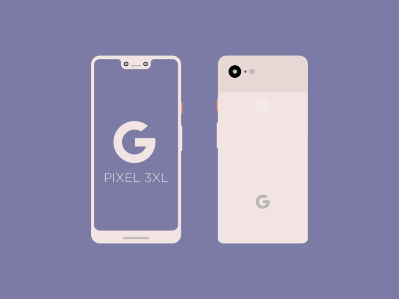 Pixel 3 XL Mockup! xl download freebie ui vector flat illustrator illustration pixel google mockup design 3