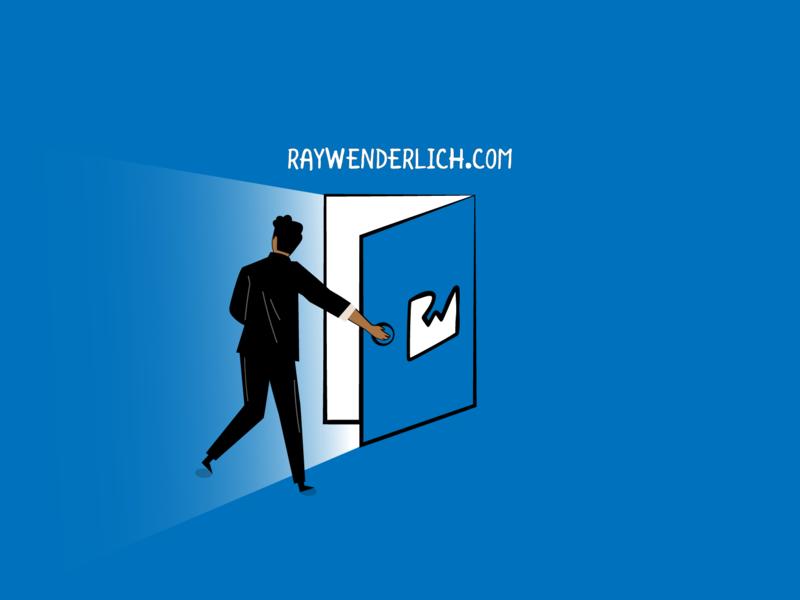RAYWENDERLICH! coming out light knob wenderlich ray invite door enter vector design illustrator illustration