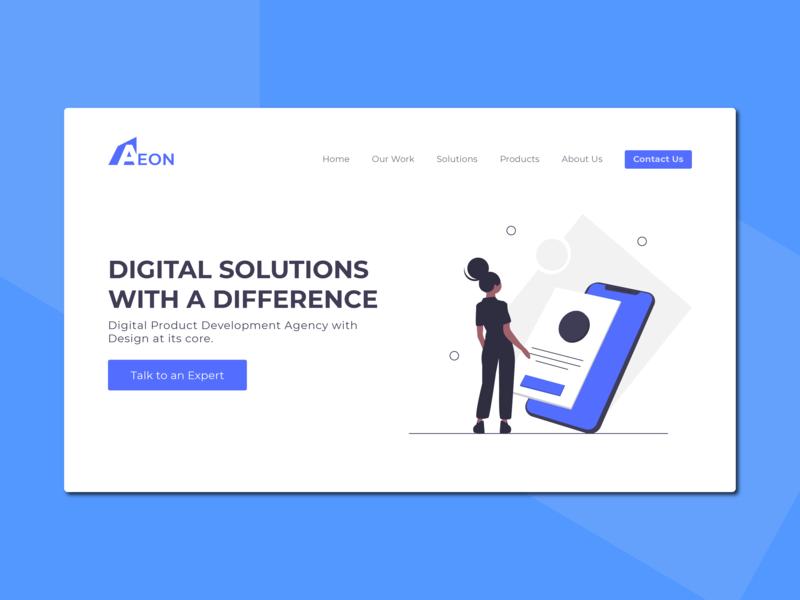 Digital Product Design Agency. we web logo typography light branding website ui illustration design
