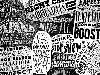 Quote madness lettering type hand-drawn editorial black  white
