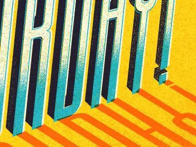 Vintage Saturday type typography vintage texture digital